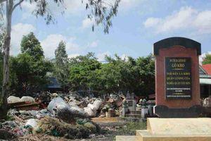 Bình Định: Khu di tích lịch sử Gò Kho biến thành bãi tập kết phế liệu
