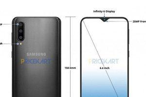 Lộ diện hình ảnh Samsung Galaxy A50 với màn hình mới, vây tay trong màn hình