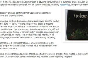 Công ty Mat Xi S.G nói gì về việc FDA khuyến cáo trà Golean Detox?