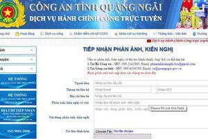 Công an tỉnh Quảng Ngãi đưa trang web cải cách hành chính đi vào hoạt động