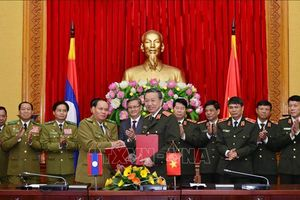 Tăng cường hợp tác đảm bảo an ninh, trật tự giữa Việt Nam - Lào