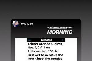 Nguyên album 'đổ bộ' Top 100 Billboard: Ariana Grande phản ứng thế nào?