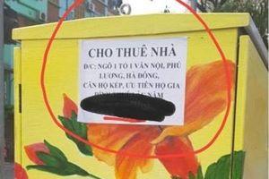 Dân mạng bức xúc khi bốt điện ở Hà Nội sơn được 3 ngày đã bị làm bẩn