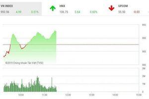 Tin chứng khoán ngày 22/2/2019: Nhờ đâu VN-Index bất ngờ vượt mốc 990 điểm?