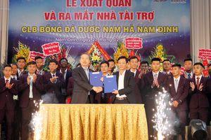 CLB Nam Định có nhà tài trợ mới, nhắm tới top 10 V-League 2019