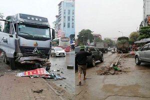 Tạm giữ hình sự tài xế xe đầu kéo tông taxi bẹp rúm khiến 1 người thiệt mạng