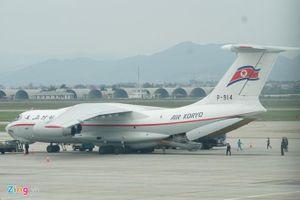 Máy bay chở nhân viên an ninh Triều Tiên đáp xuống Nội Bài
