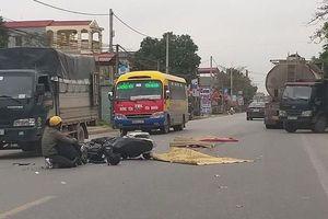 Hưng Yên: Nam thanh niên bất lực nhìn người thân văng xuống đường bị xe bồn cán tử vong
