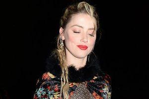 Amber Heard vui vẻ dự tiệc tiền Oscar dù bị đề cử Mâm Xôi Vàng