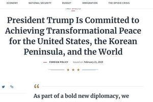 Nhà Trắng mở trang thông tin về hội nghị thượng đỉnh Hoa Kỳ - Triều Tiên
