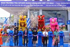 Ngân hàng Bản Việt Cà Mau khai trương trụ sở mới