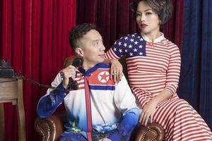 Thái Thùy Linh khoe thần thái với áo dài cờ Mỹ - Triều