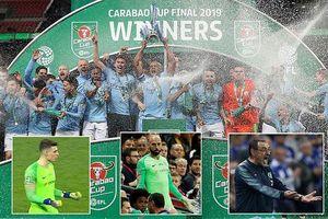 Điểm nhấn chung kết Carabao Cup: Kompany bị giành cúp, trọng tài té ngửa
