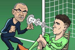Chống đối HLV, thủ môn Chelsea liên tục bị chế ảnh trên mạng