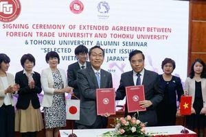 Trường Đại học Ngoại thương và Đại học Tohhoku hợp tác sâu rộng