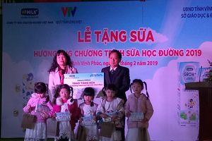 Tặng sữa VPMilk cho gần 5.000 học sinh Vĩnh Phúc