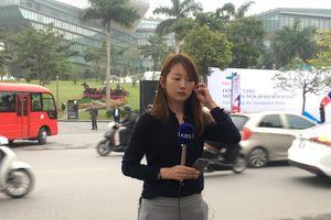 Dàn phóng viên quốc tế xinh đẹp tác nghiệp tại Hội nghị thượng đỉnh Mỹ - Triều