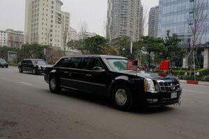Cận cảnh dàn xe hộ tống Tổng thống Donald Trump trên đường Hà Nội