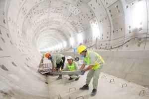 Công trường Dự án tuyến Metro số 1 tấp nập ngay khi được thi công trở lại