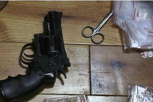 Triệt phá ổ ma túy thu giữ súng và 30 viên đạn