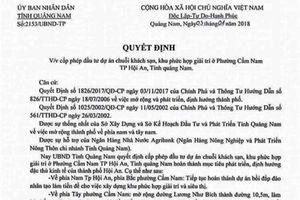 Quảng Nam: Giả chữ ký của Chủ tịch tỉnh để 'làm loạn' giá đất