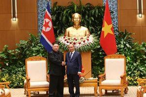 Thủ tướng Nguyễn Xuân Phúc, Chủ tịch Quốc hội Nguyễn Thị Kim Ngân hội kiến nhà lãnh đạo Kim Jong- un