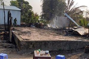 Bạc Liêu: 3 căn nhà cháy rụi trong đêm, 1 người chết