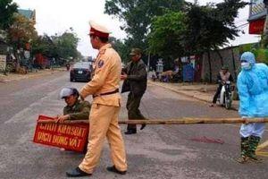 Lập chốt kiểm dịch tạm thời trên quốc lộ ngăn ngừa dịch tả lợn châu Phi