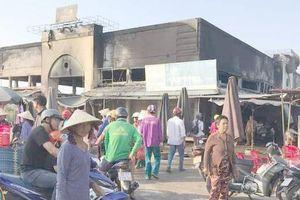 Cháy chợ giữa đêm khuya, thiệt hại gần 2 tỷ đồng