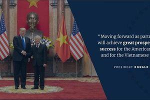 Twitter Nhà trắng đăng loạt thông tin ca ngợi quan hệ thương mại Việt Mỹ