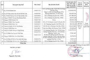 Cục Thuế tỉnh Hà Giang vừa công khai 46 doanh nghiệp nợ tiền thuế