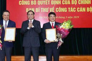 Trao các quyết định của Bộ Chính trị, Ban Bí thư về nhân sự