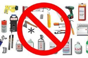 Những đồ vật không được mang lên máy bay VietJet Air