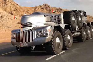 Tỷ phú Ả Rập khoe xe off-road 'siêu khủng' như của người ngoài hành tinh