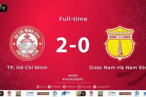 Thắng dễ Nam Định, TPHCM giữ vững ngôi đầu V-League 2019
