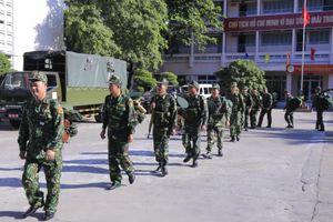 Bộ Tổng Tham mưu kiểm tra công tác luyện tập chuyển trạng thái SSCĐ tại BĐBP TP Hồ Chí Minh