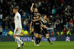 Thua thảm trước Ajax ngay tại Bernabeu, Real Madrid bị loại khỏi Champions League