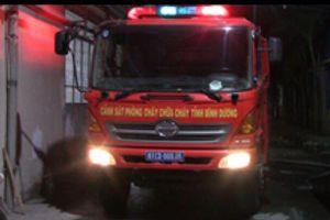 Xưởng dệt rộng 1.000m2 phát cháy trong đêm