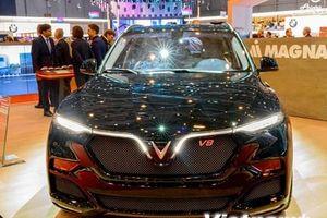 Soi chi tiết mẫu xe SUV Lux V8 của VinFast vừa ra mắt tại Thụy Sĩ