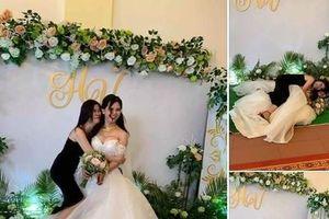 Chụp ảnh với cô dâu trong ngày cưới, bạn thân gây 'bão mạng' vì biểu cảm khó đỡ