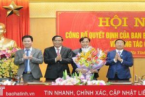 Công bố quyết định của Ban Bí thư Trung ương Đảng chuẩn y Phó Bí thư Thường trực Tỉnh ủy Hà Tĩnh
