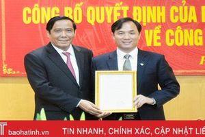 Trao quyết định chuẩn y Phó Bí thư Thường trực Tỉnh ủy Hà Tĩnh
