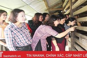 CLB Nhà báo nữ Hà Tĩnh tìm hiểu thực tế huyện Hương Sơn