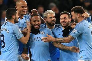 Man City xây chắc ngôi đầu nhờ hat-trick của Sterling