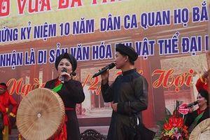 Lễ hội làng Diềm tưởng nhớ Thủy tổ quan họ