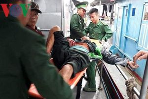 Nổ bình ga trên tàu cá 6 ngư dân nhập viện cấp cứu