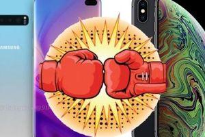 iPhone XS Max đối đầu Galaxy S10+: Ai là người 'đổ máu'?