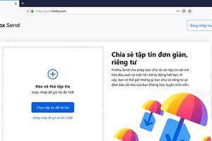 Firefox Send triển khai cho tất cả mọi người