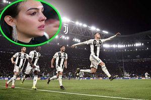 Bạn gái khóc 'nức nở' khi Ronaldo lập hat-trick giúp Juve lội ngược dòng