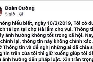 Xử lý việc đưa tin sai sự thật về dịch tả lợn châu Phi trên facebook